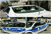 توضیح درباره تخریب خودروی پلیس توسطراننده غیربومی