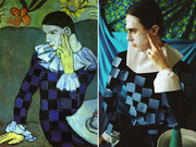 تصاویر بازسازی نقاشیهای معروف دنیا | ادوارد مونک با دستکش