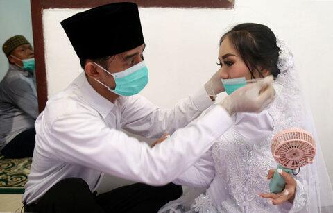 عروس و داماد در جاکارتا