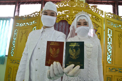 مراسم عروسی در جاکارتا