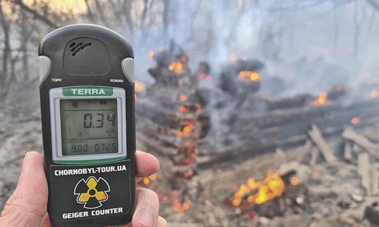 آتشسوزي در نيروگاه هستهاي چرنوبيل