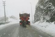 جادههای کوهستانی مازندران برفی شد