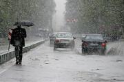 تداوم بارشهای رگباری در همدان