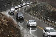 بارش باران و برف در محورهای مواصلاتی ۱۵ استان کشور