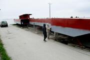 استقرار سازه بارج برای لایروبی کانالها در اسکله بندرترکمن