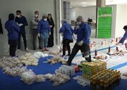 بهرهمندی۷۵۰ خانوار نیازمند شیرازی از بستههای بهداشتی و غذایی