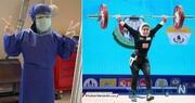 بانوی وزنهبردار ایرانی که به بیماران کرونایی خدمت میکند