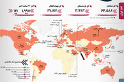 آمار کرونا در ایران و جهان| تعداد عجیب فوتیها در آمریکا