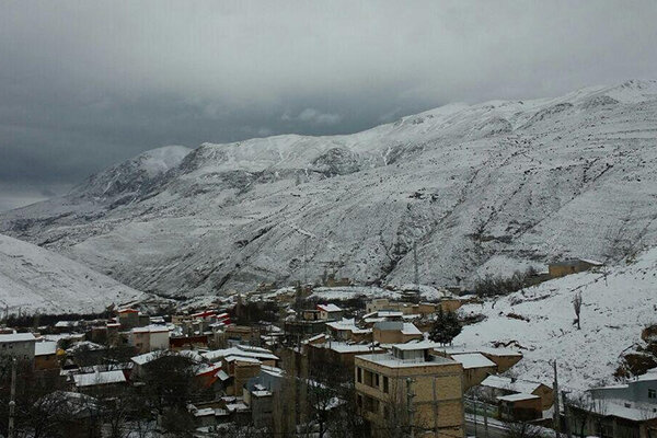 برف و سرما در زنجان