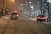 برف، تردد در گردنههای همدان را کند کرد