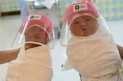 تصاویر | نوزادانی که دنیا را از پشت ماسکها میبینند