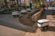 عکس روز | رباتهای حمل غذا در دوران کرونا