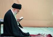 تصاویر کمتر دیده شده از حضور رهبر انقلاب در مراسم غبارروبی حرم امام رضا(ع)