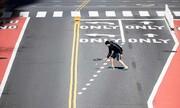 عکس روز| تنیس وسط خیابان ۴۲ نیویورک