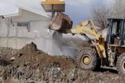 تخریب ساخت و سازهای غیرمجاز در اراضی پیشوا