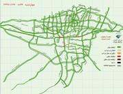 خطوط قرمز نقشه ترافیکی تهران زیاد شد   ترافیک سنگین در خیابانهای انقلاب و آزادی