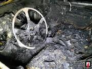 تصاویر | مرگ دلخراش مرد جوانی کهدر آتشسوزی پراید سوخت