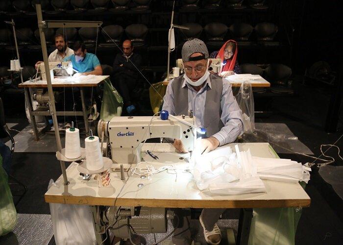 کارگاه تولید ماسک هنرمندان