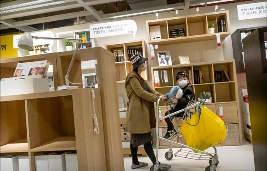 فروشگاه در چین در دوران کرونا