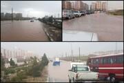 جزییات سیل شهر جدید پرند   خودروها غرق شدند
