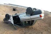 نیمی از تصادفات برونشهری یزد مربوط به واژگونی خودروست
