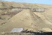 کشف محوطه تاریخی در سد مراش ماهنشان