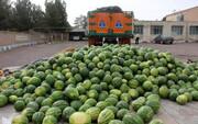 بار کج به منزل نرسید | جاسازی ۱۷ کیلو تریاک در بار هندوانه