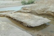 خروج بقایای یک نفربر زرهی دوران دفاع مقدس از رودخانه