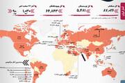 آمار رسمی کرونا  | شمار تلفات ایران و آمریکا | مرکل: اول راهیم