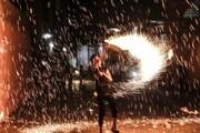 عکس روز| آتشچرخانی برای رمضان