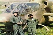 فیلمی تازه منتشر شده از تعقیب بالگردهای دشمن توسط شهید شیرودی