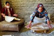 تصویر | پخت نان خانگی در سمیرم