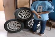 سارق چرخهای خودرو در گچساران دستگیر شد