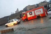بارشهای سنگین در زابل و امدادرسانی آتشنشانان