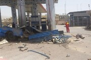 انفجار پیکان وانت در جایگاهسوخت سیانجی در اهواز