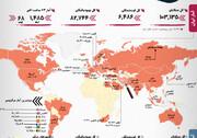 آمار کرونا   پایان قرنطینه در ۳ کشور   افزایش مبتلایان در ایران