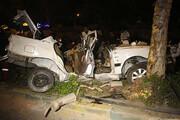 دو کشته و یک مصدوم  حاصل برخورد خودرو با درخت