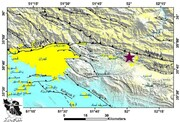 نقشه گسل مشا ؛ محل وقوع زلزله تهران