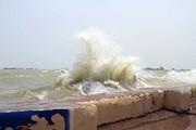 وزش باد شدید در مناطق دریایی هرمزگان | شناورهای سبک از تردد خودداری کنند