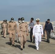 اولین تصویر از حضور مقامات ارشد ارتش برای بررسی سانحه تلخ شناور کنارک