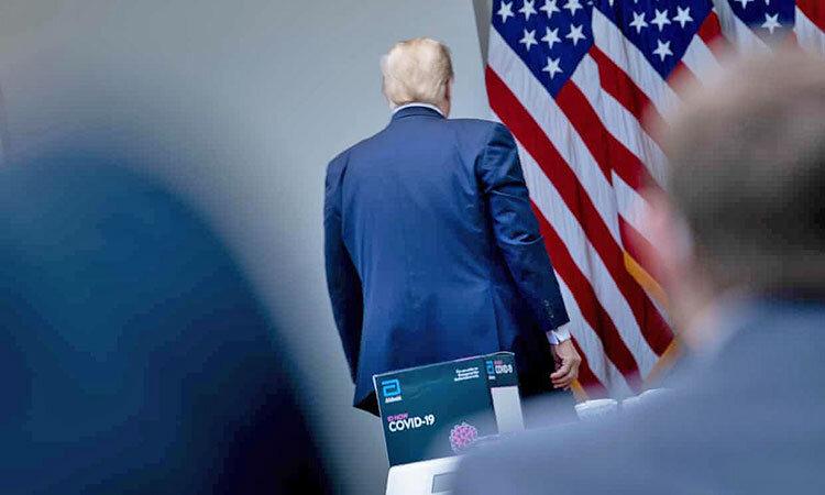 قهر ترامپ از نشست خبري