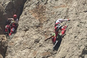 نجات ۲ فرد گرفتار در کوههای کرمان