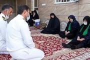 دیدار فرمانده پایگاه نیروی دریایی بوشهر با خانواده شهدای حادثه شناور کنارک