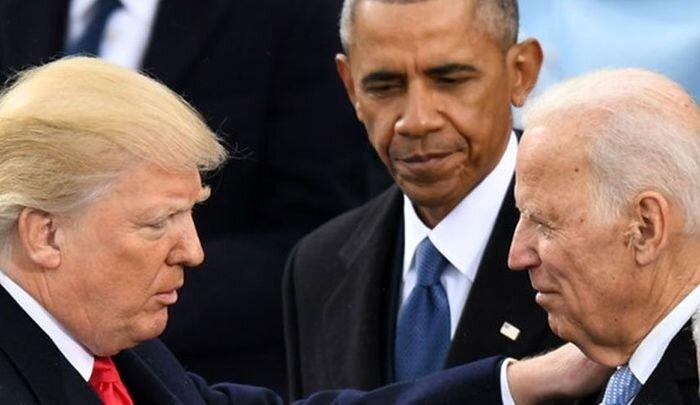 بایدن اوباما ترامپ