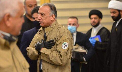 تصاویر مصطفی الکاظمی در یونیفرم  حشد الشعبی