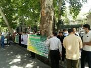 ماجرای تجمع رانندگان اتوبوسرانی در مقابل ساختمان شورای شهر تهران
