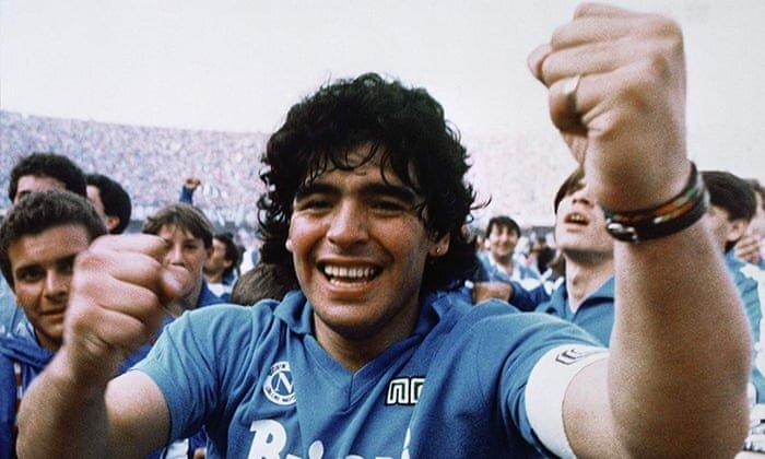 دیهگو مارادونا در لباس ناپولی