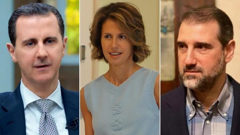 رامی مخلوف بشار اسد اسما اسد