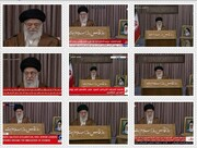 عکس | پخش زنده بیانات رهبری در روز قدس از شبکههای خبری جهان