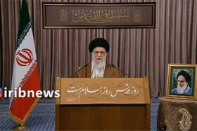 فیلم | فاتحهخوانی رهبر معظم انقلاب برای شهید سلیمانی